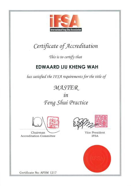 Accredited Feng Shui Master -International Feng Shui Association